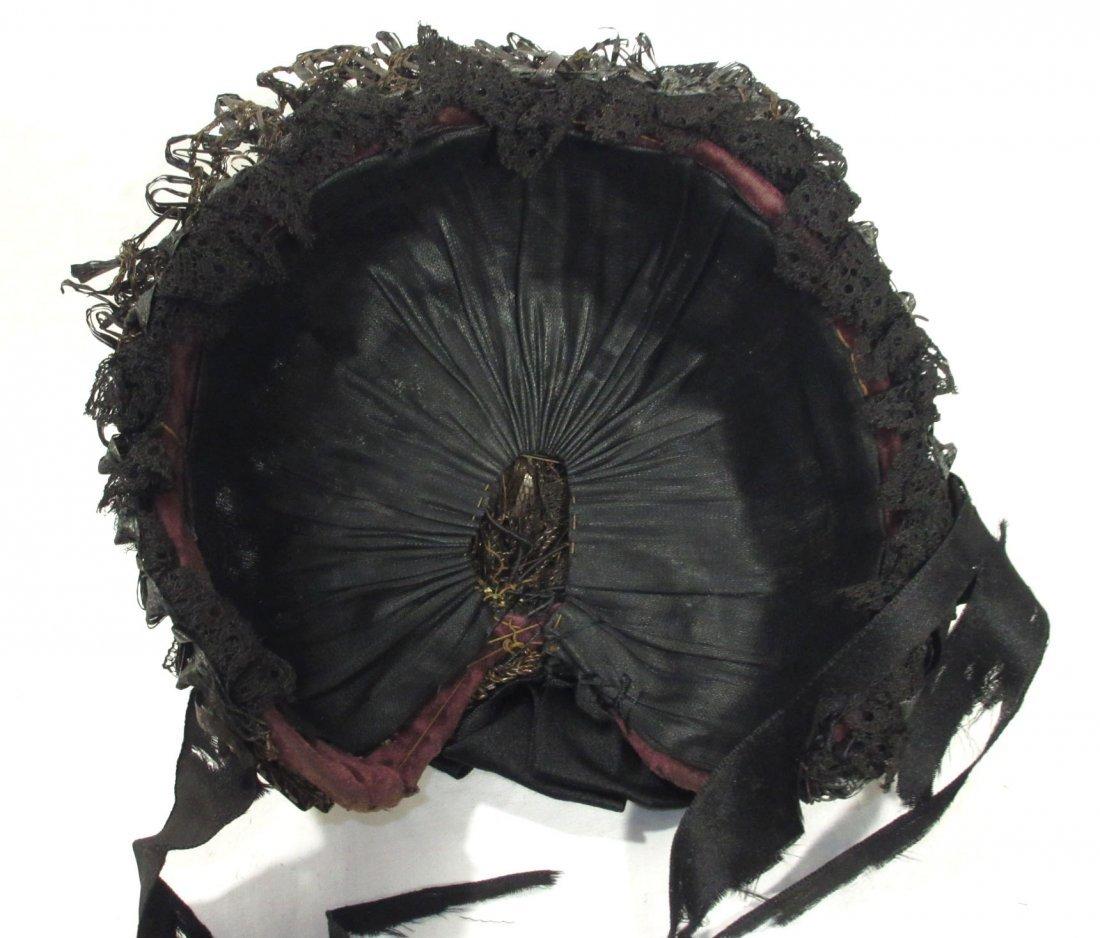 Mid-Victorian, Civil War Mourning Hat - 6