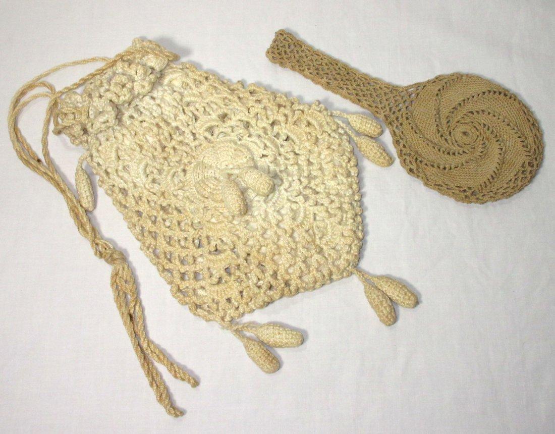 2 Victorian Crochet Bags