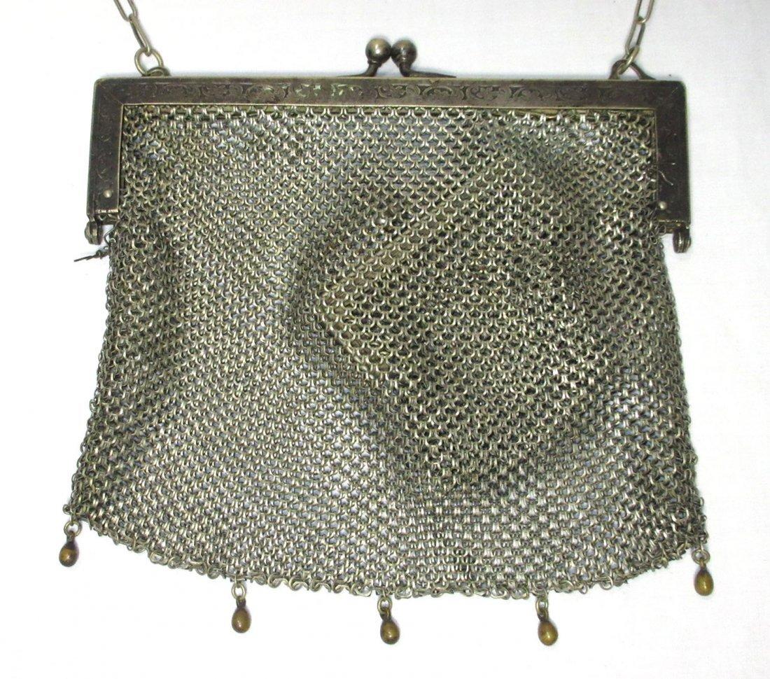 2 German Silver Victorian Bags - 2
