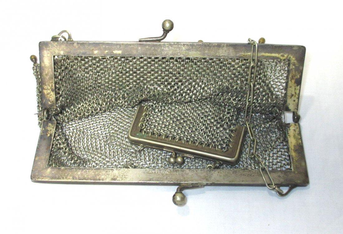 2 German Silver Victorian Bags - 3