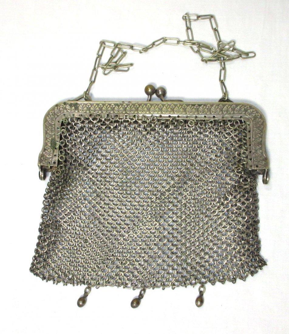 2 German Silver Victorian Bags - 5