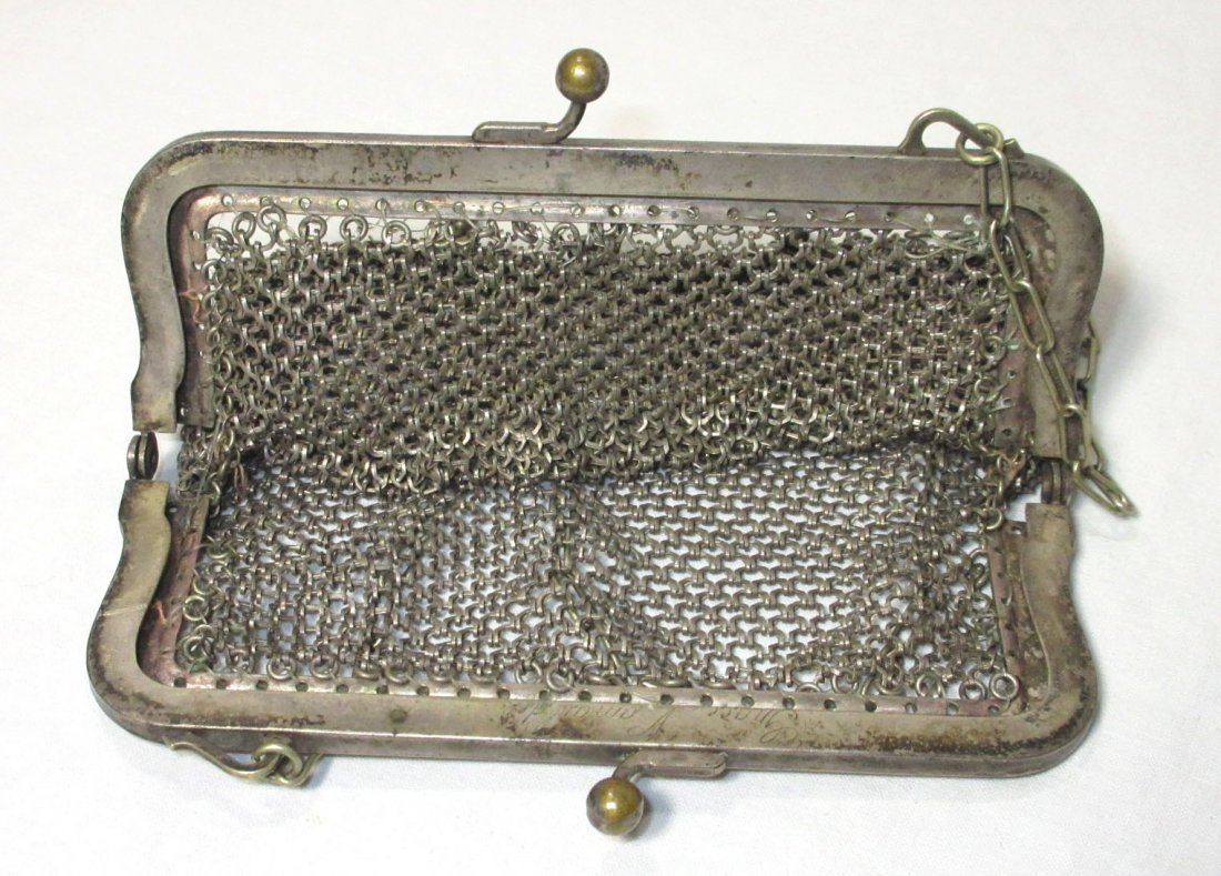 2 German Silver Victorian Bags - 6