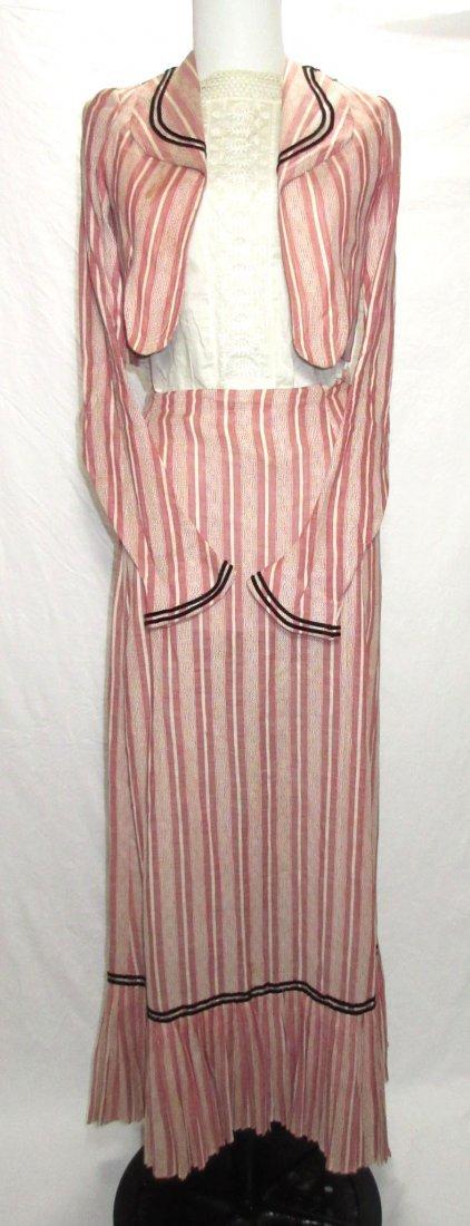 3 Pc. Rose Edwardian Jacket,Waist & Skirt Set