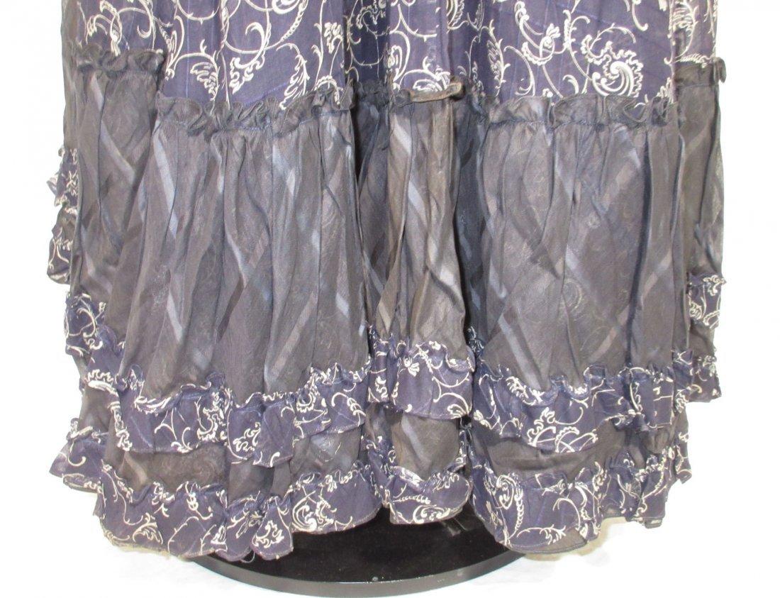 2 Pc. Dark Copenhagen Blue Edwardian Dress - 10