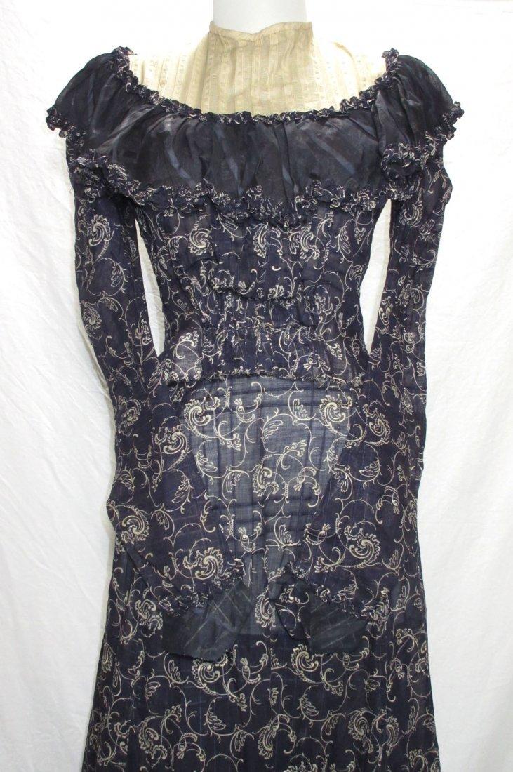 2 Pc. Dark Copenhagen Blue Edwardian Dress - 2