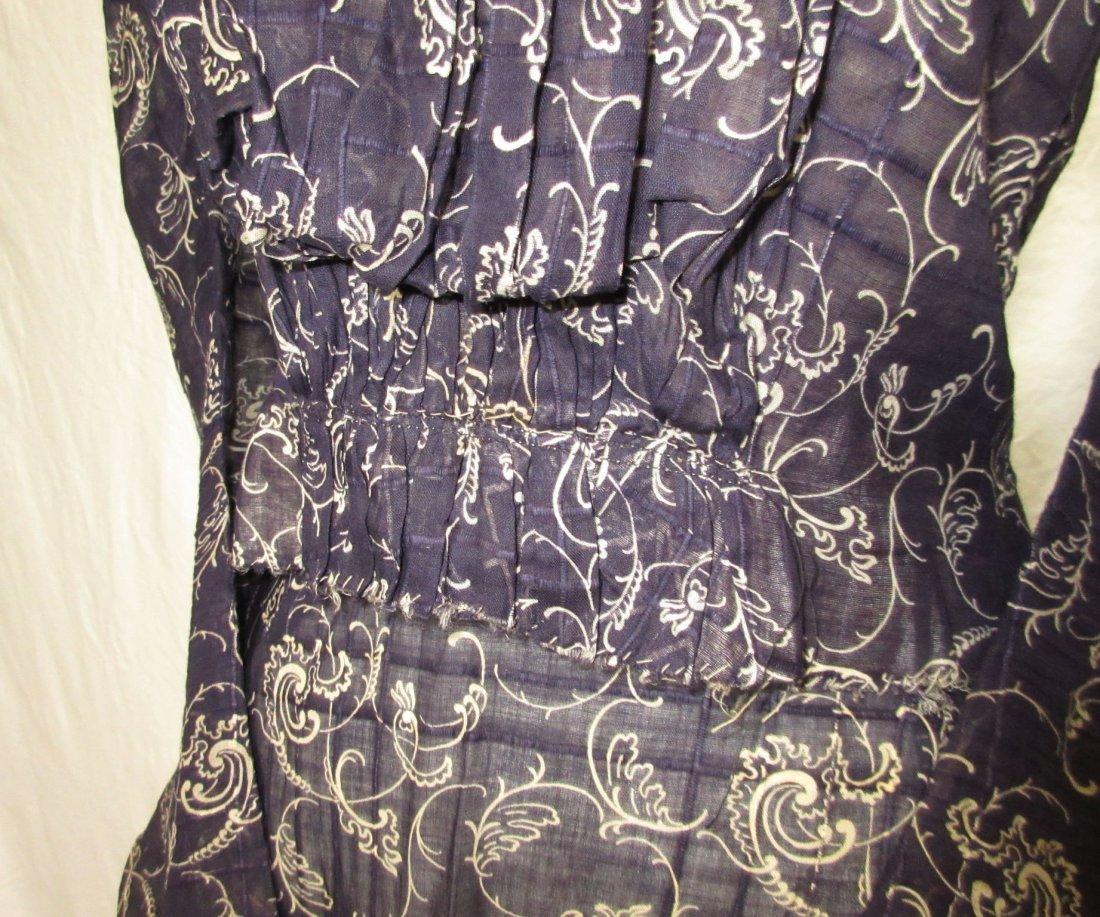 2 Pc. Dark Copenhagen Blue Edwardian Dress - 3