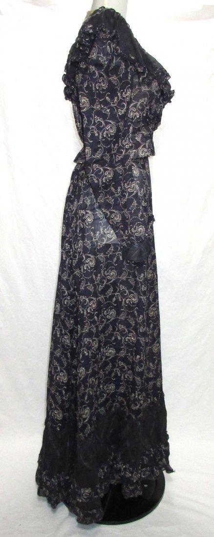 2 Pc. Dark Copenhagen Blue Edwardian Dress - 4