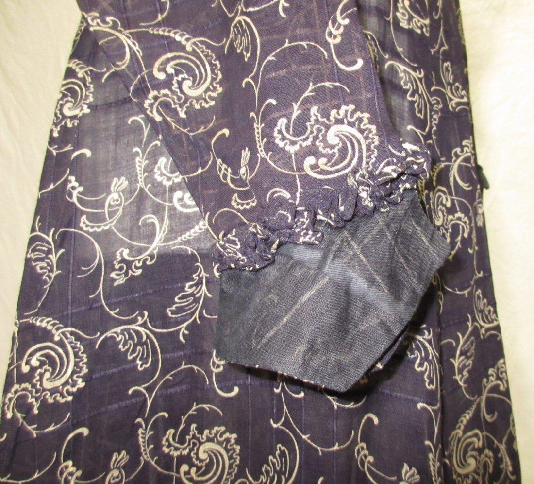 2 Pc. Dark Copenhagen Blue Edwardian Dress - 5
