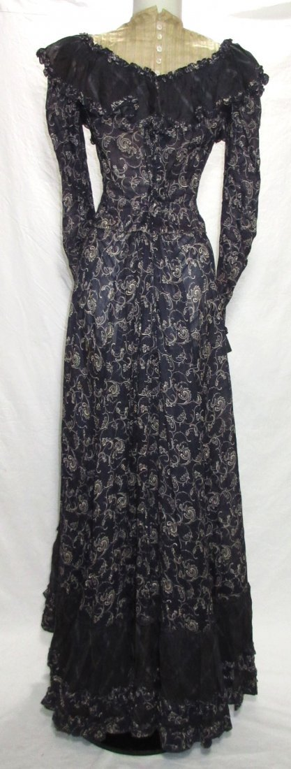 2 Pc. Dark Copenhagen Blue Edwardian Dress - 6