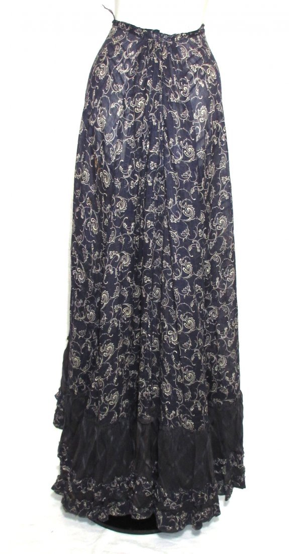 2 Pc. Dark Copenhagen Blue Edwardian Dress - 9
