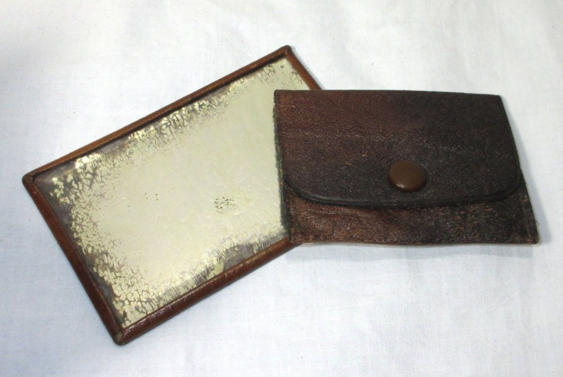 Edwardian/Art Nouveau Brown Leather Hand Bag - 6