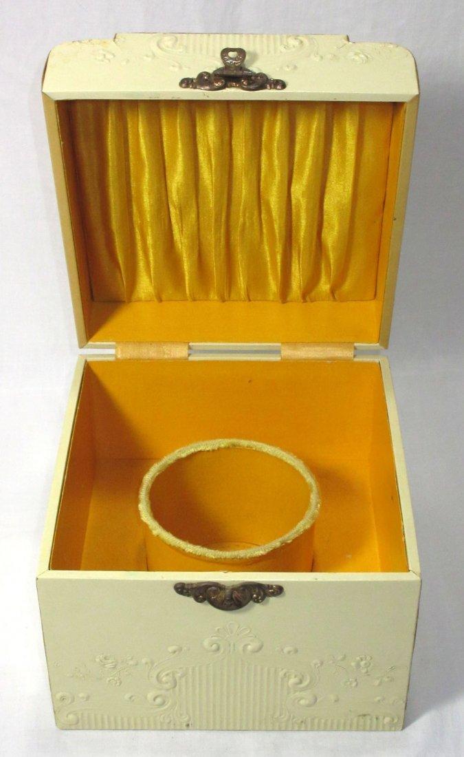 Edwardian Celluloid Collar Box w/ Beaded Collar - 5