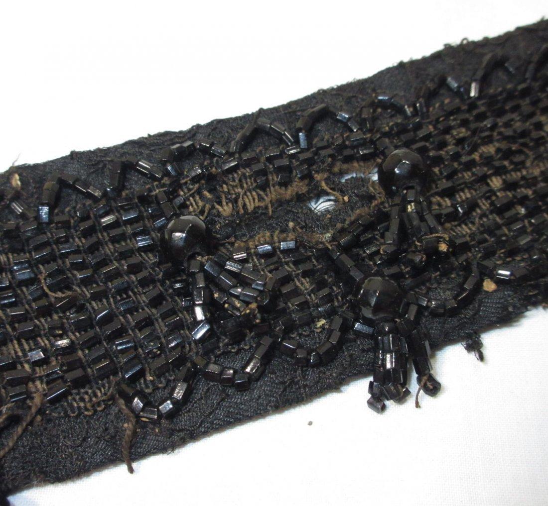 Edwardian Celluloid Collar Box w/ Beaded Collar - 8