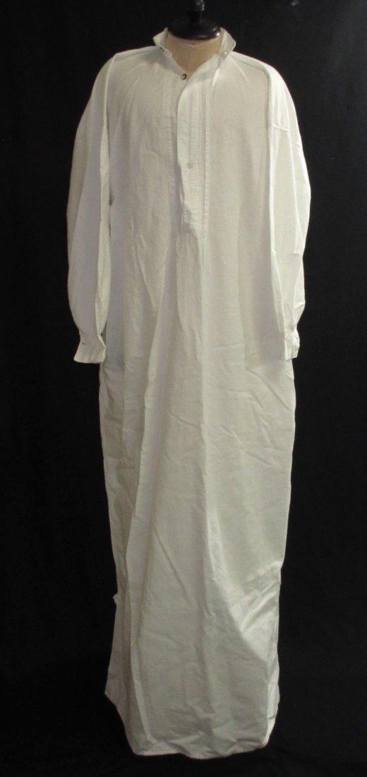 Edwardian Cotton Men's Sleep Dress/Shirt