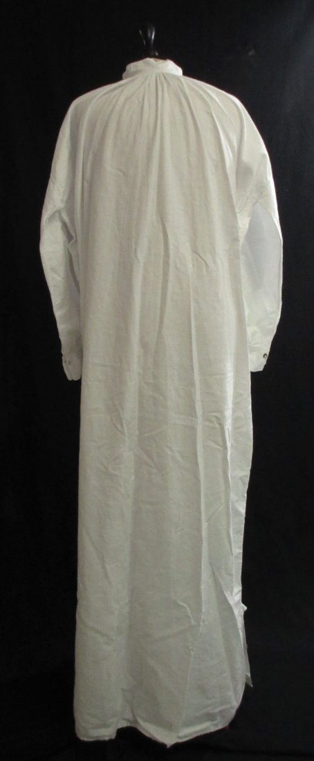 Edwardian Cotton Men's Sleep Dress/Shirt - 5