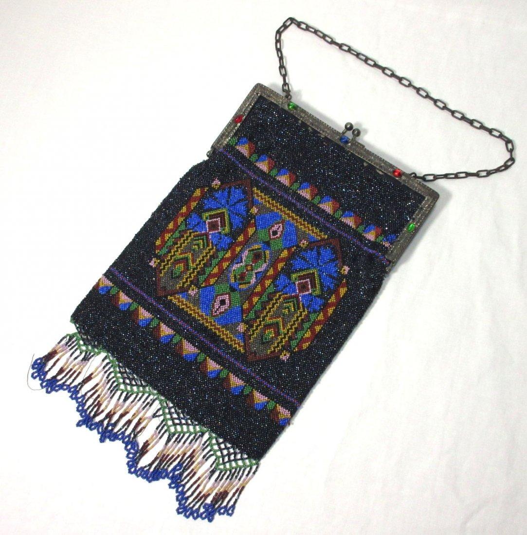 Bohemian Geometric Micro Bead Gls Jeweled Bag
