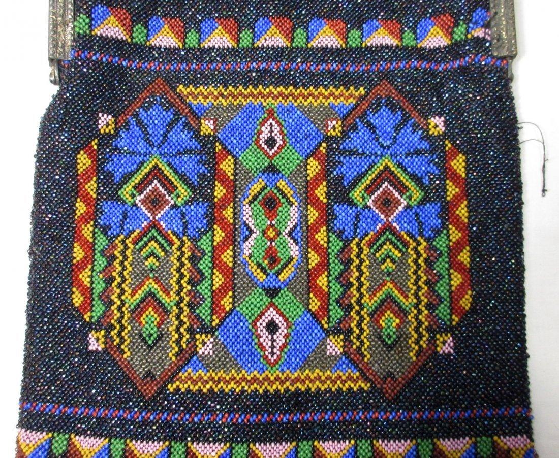 Bohemian Geometric Micro Bead Gls Jeweled Bag - 4