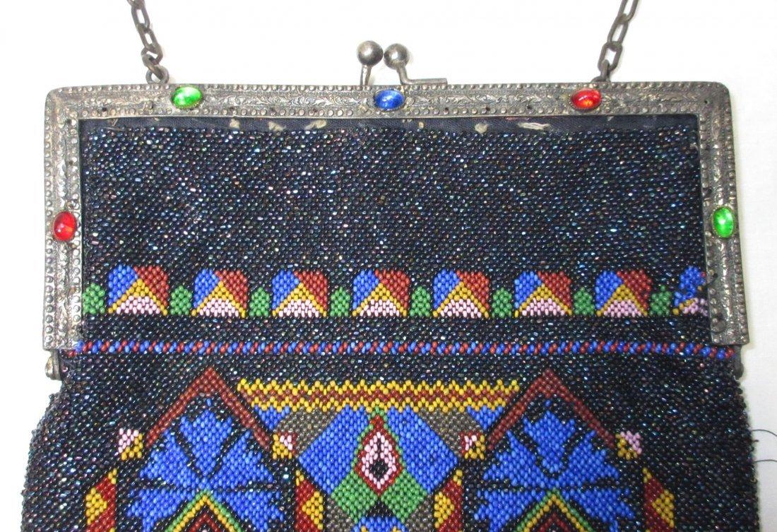 Bohemian Geometric Micro Bead Gls Jeweled Bag - 5