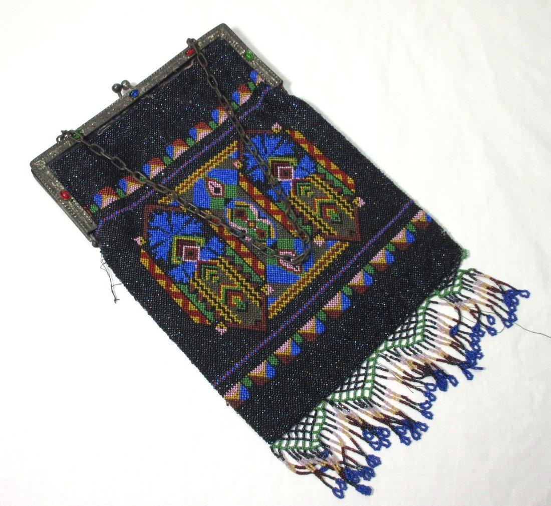 Bohemian Geometric Micro Bead Gls Jeweled Bag - 6