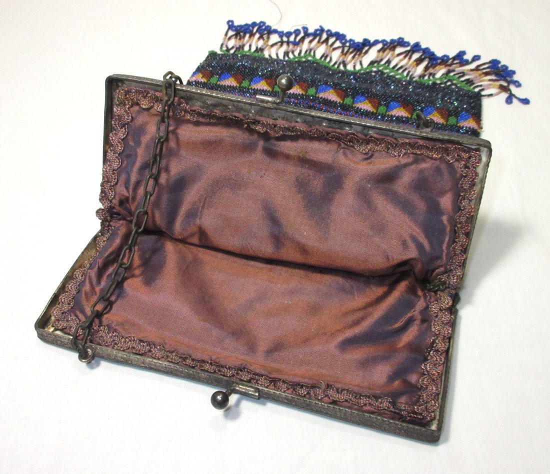 Bohemian Geometric Micro Bead Gls Jeweled Bag - 7