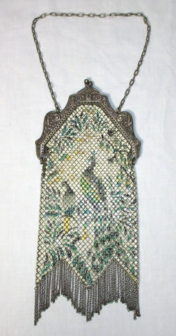 Book Pc. Mandelain Peacocks Enam Armor Mesh Bag