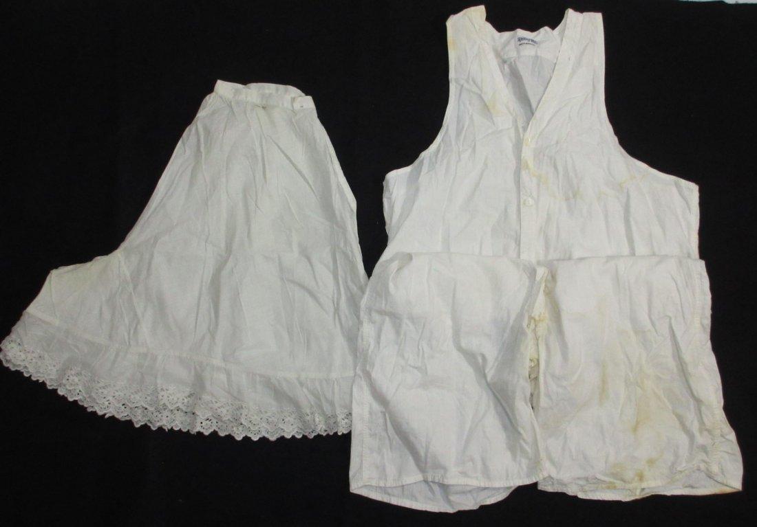 2 pc 1920's Combination Underwear & Pantaloons
