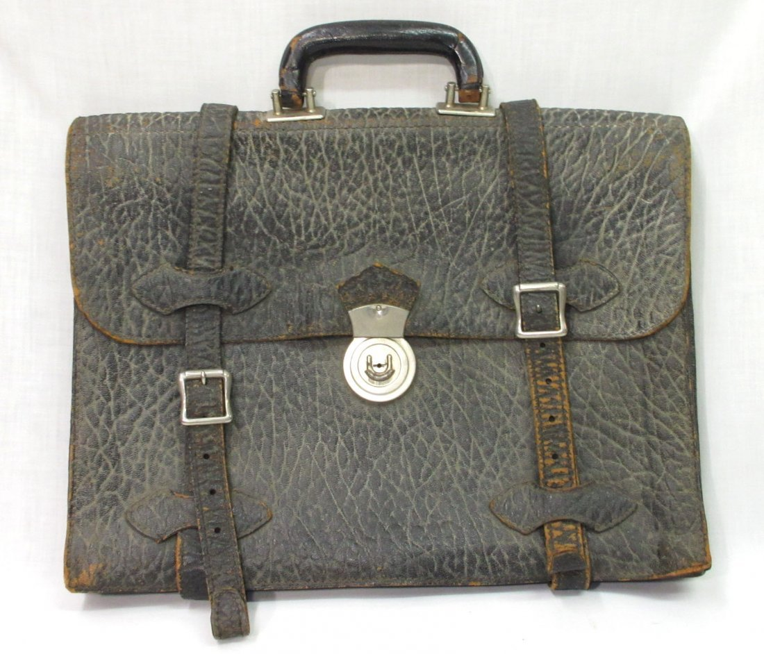 Great 1920's Leather Men's Brief Case