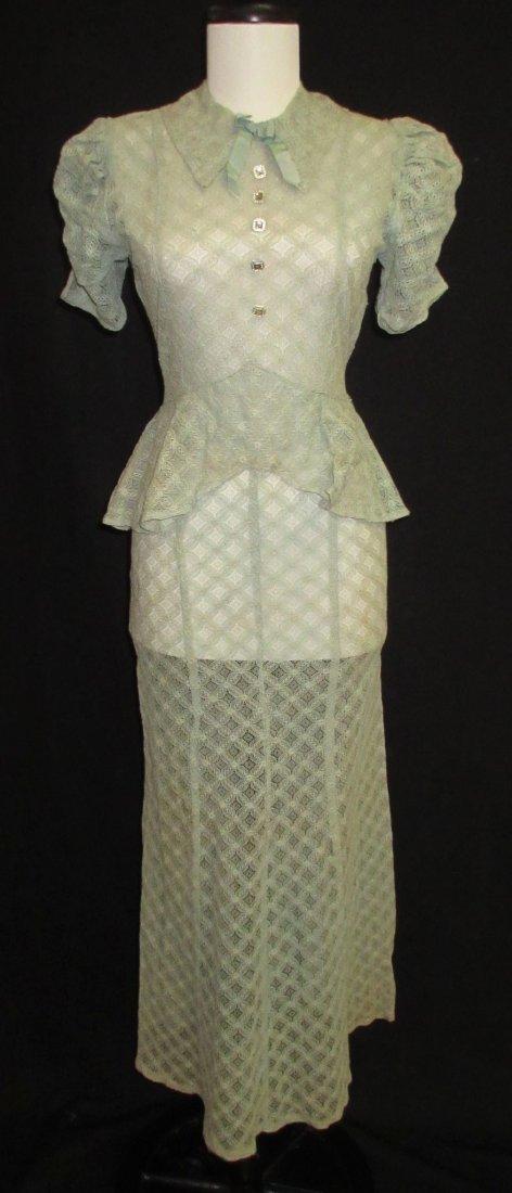Cute Cookie Frock 1pc. Lace Peplum 30's Dress