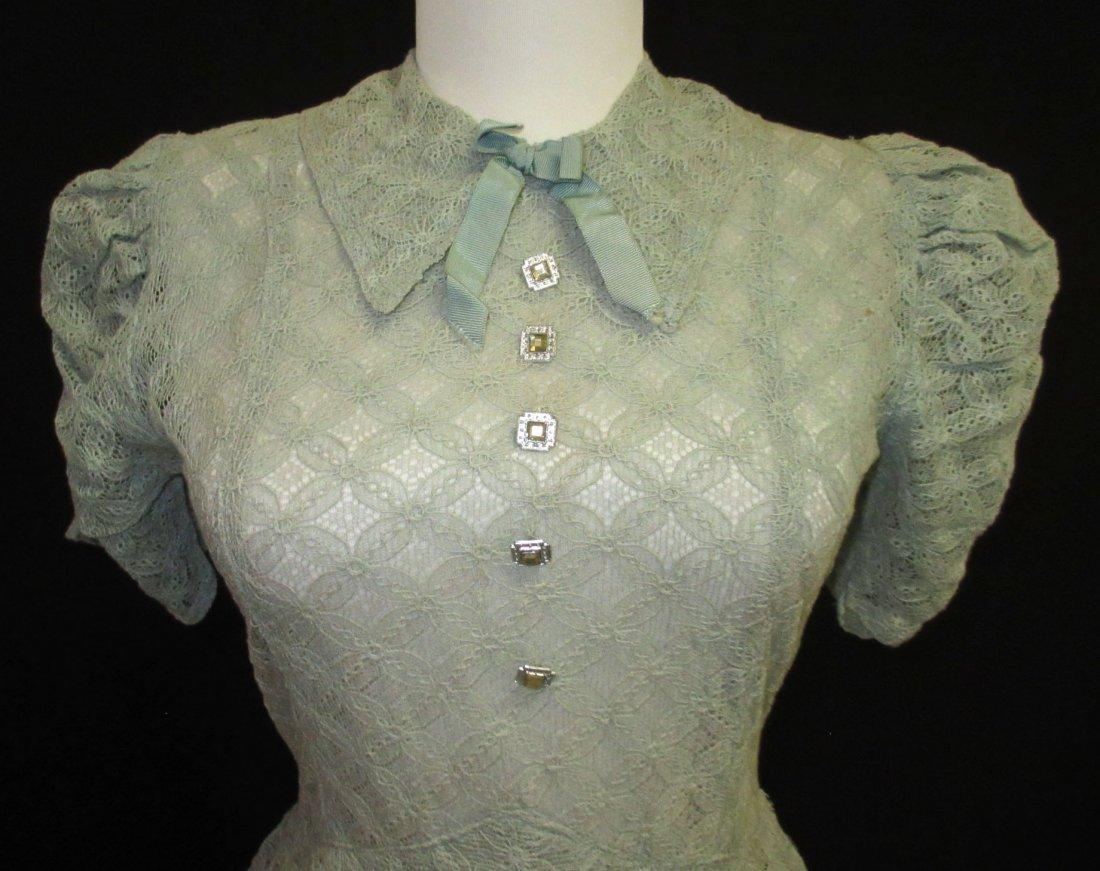 Cute Cookie Frock 1pc. Lace Peplum 30's Dress - 2