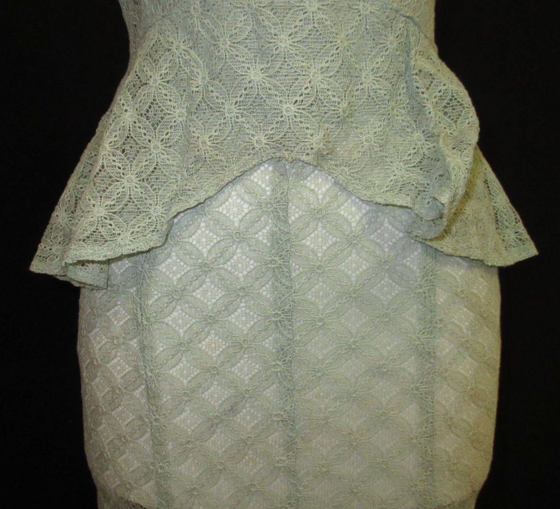Cute Cookie Frock 1pc. Lace Peplum 30's Dress - 3