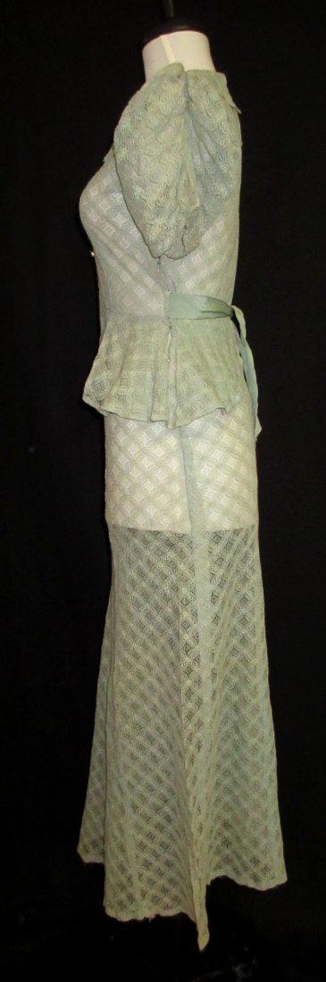 Cute Cookie Frock 1pc. Lace Peplum 30's Dress - 4