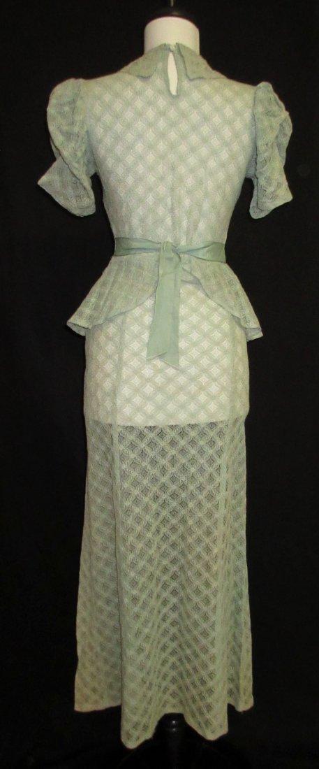 Cute Cookie Frock 1pc. Lace Peplum 30's Dress - 5