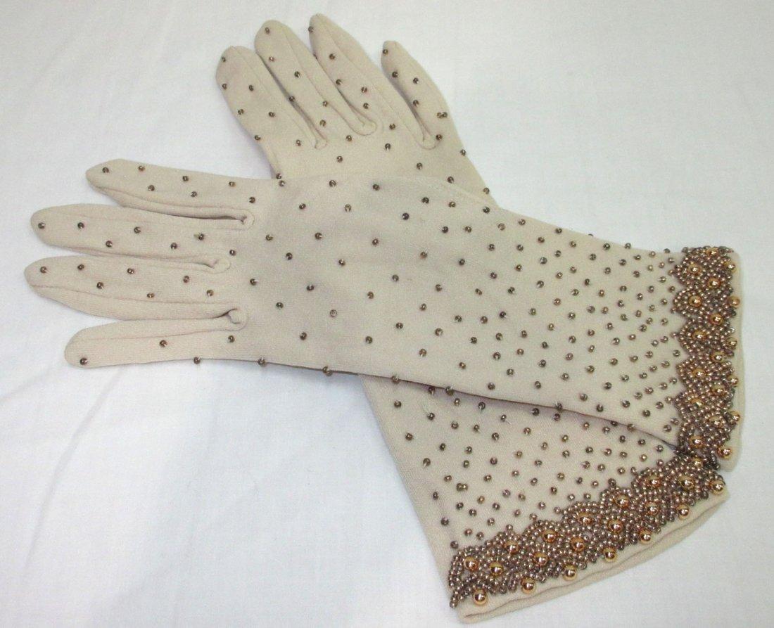 Lovely Hand Beaded Gloves