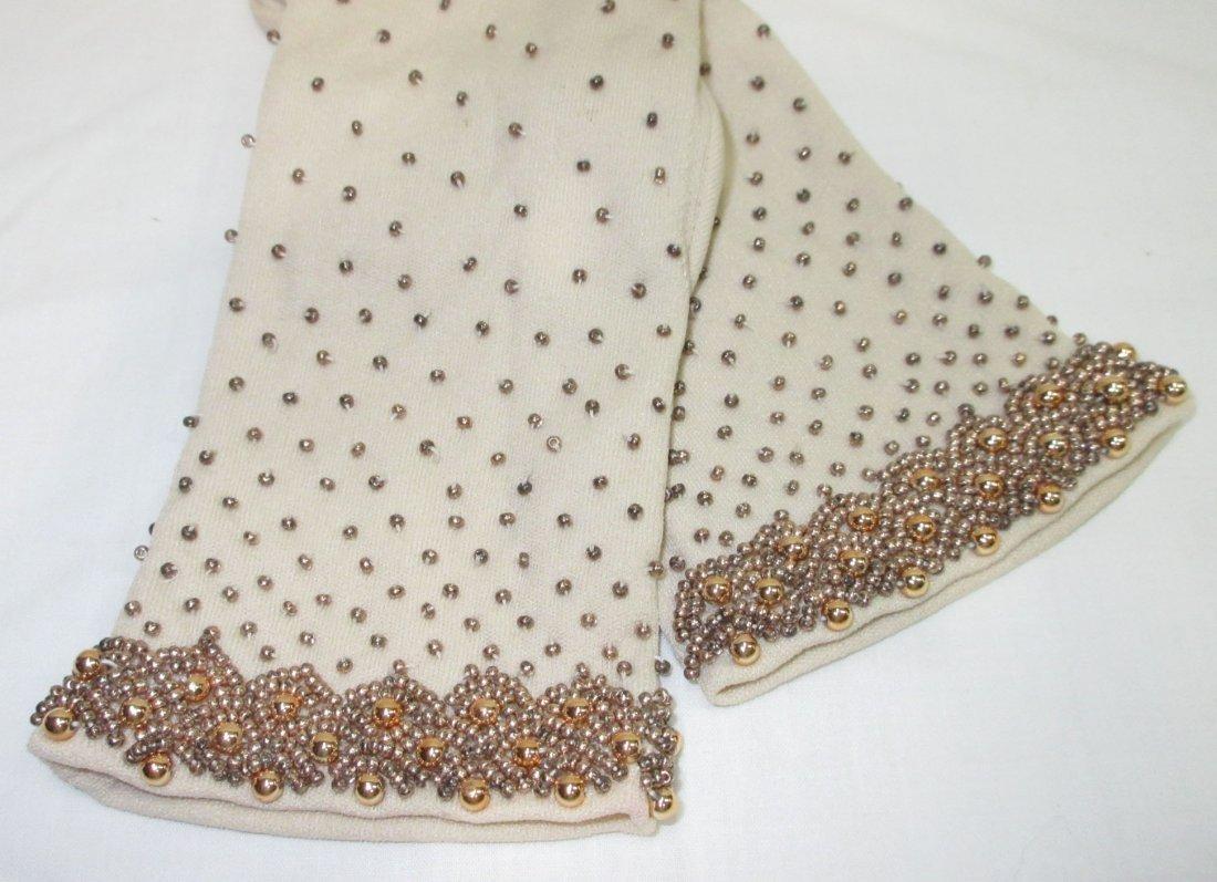 Lovely Hand Beaded Gloves - 2
