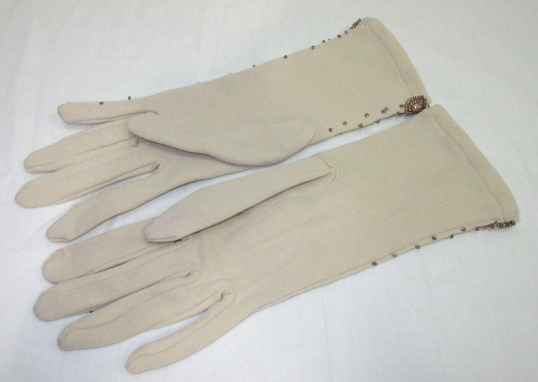 Lovely Hand Beaded Gloves - 3