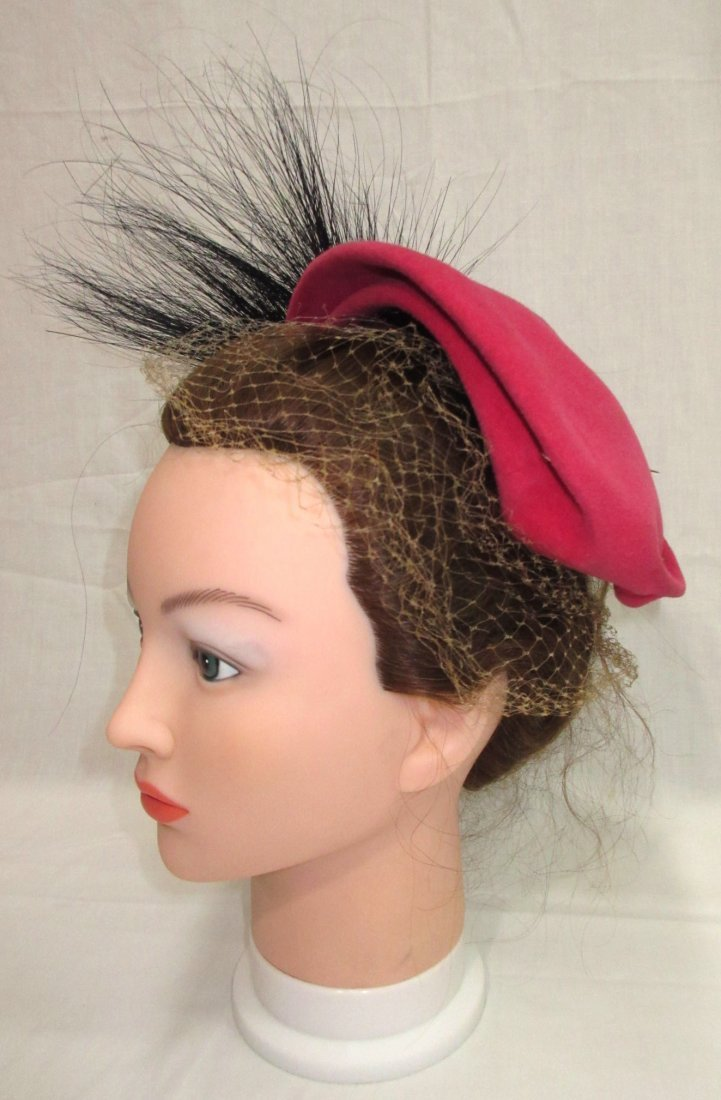 Pink Wool & Horse Hair 30's Hat