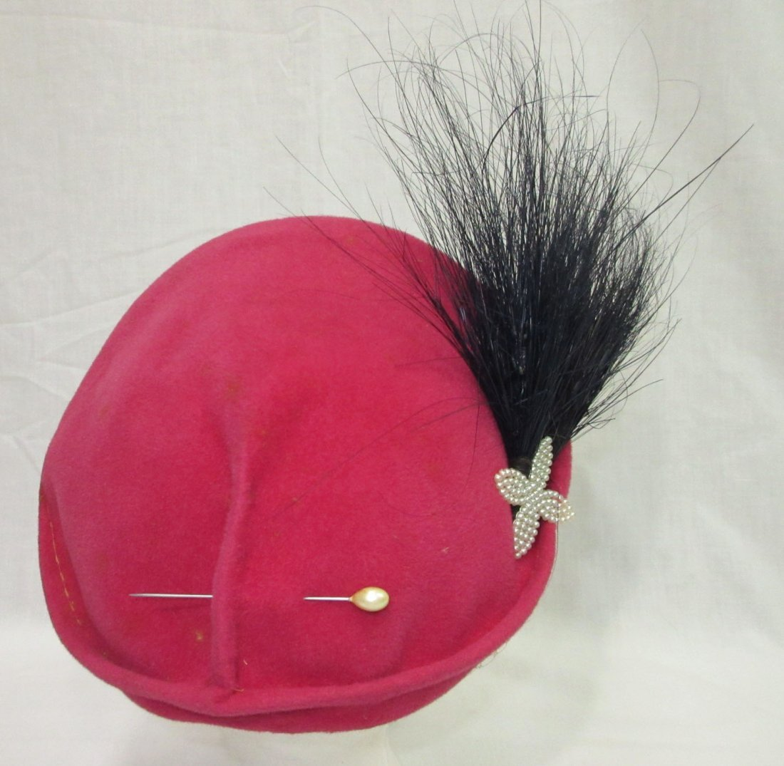 Pink Wool & Horse Hair 30's Hat - 3