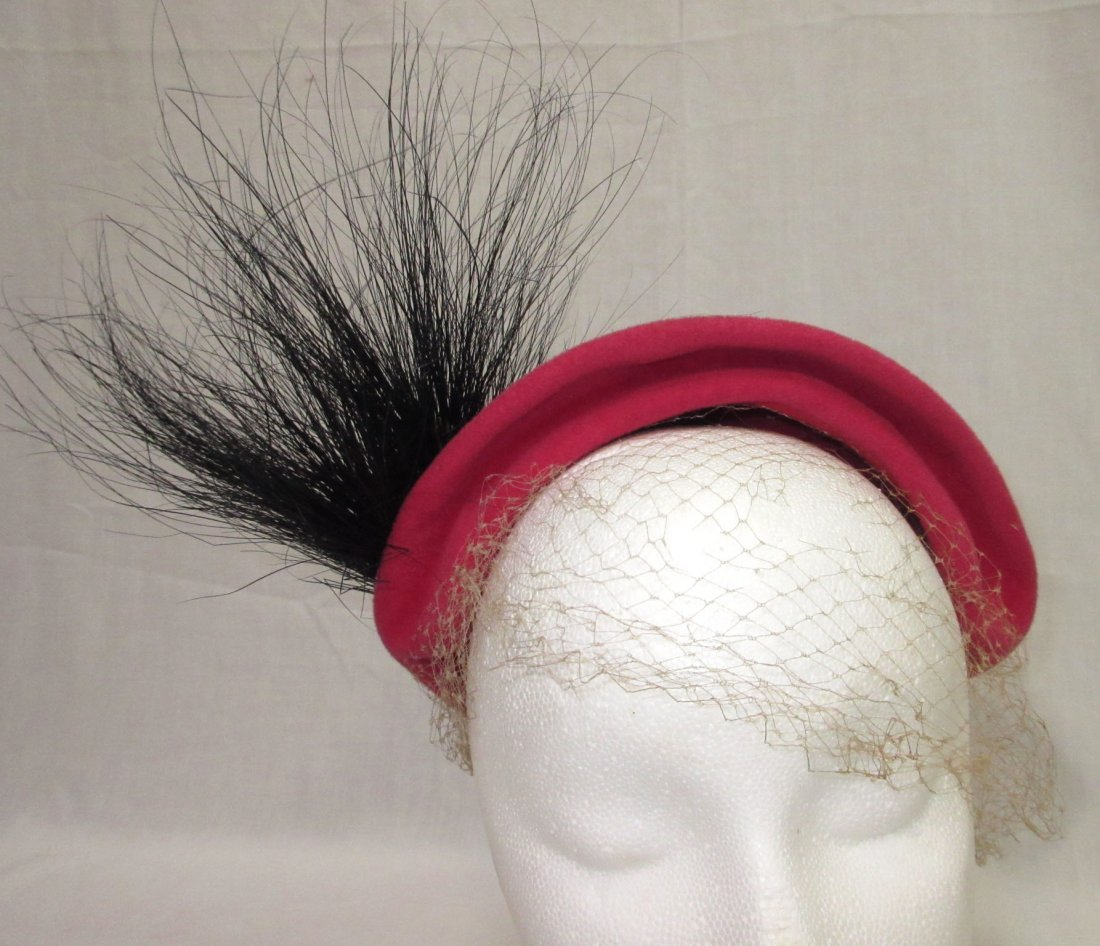 Pink Wool & Horse Hair 30's Hat - 4