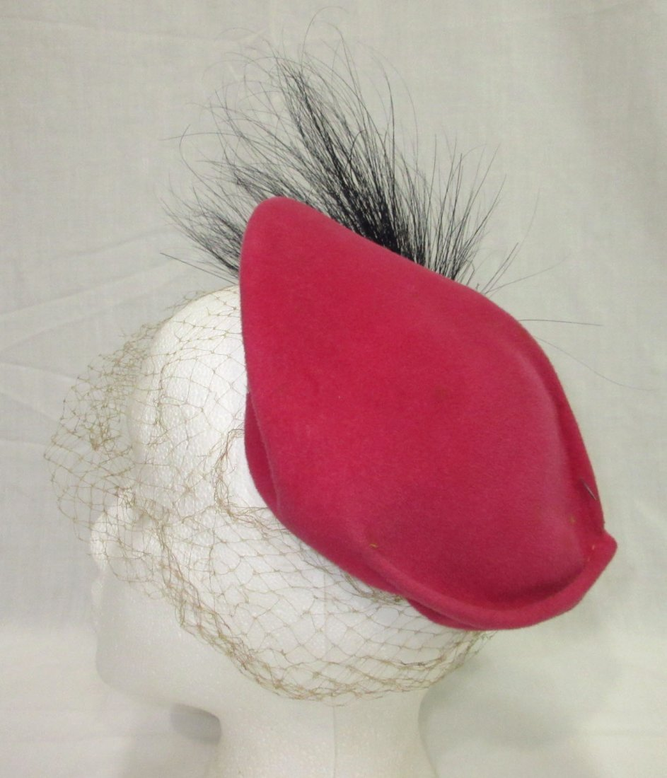 Pink Wool & Horse Hair 30's Hat - 5