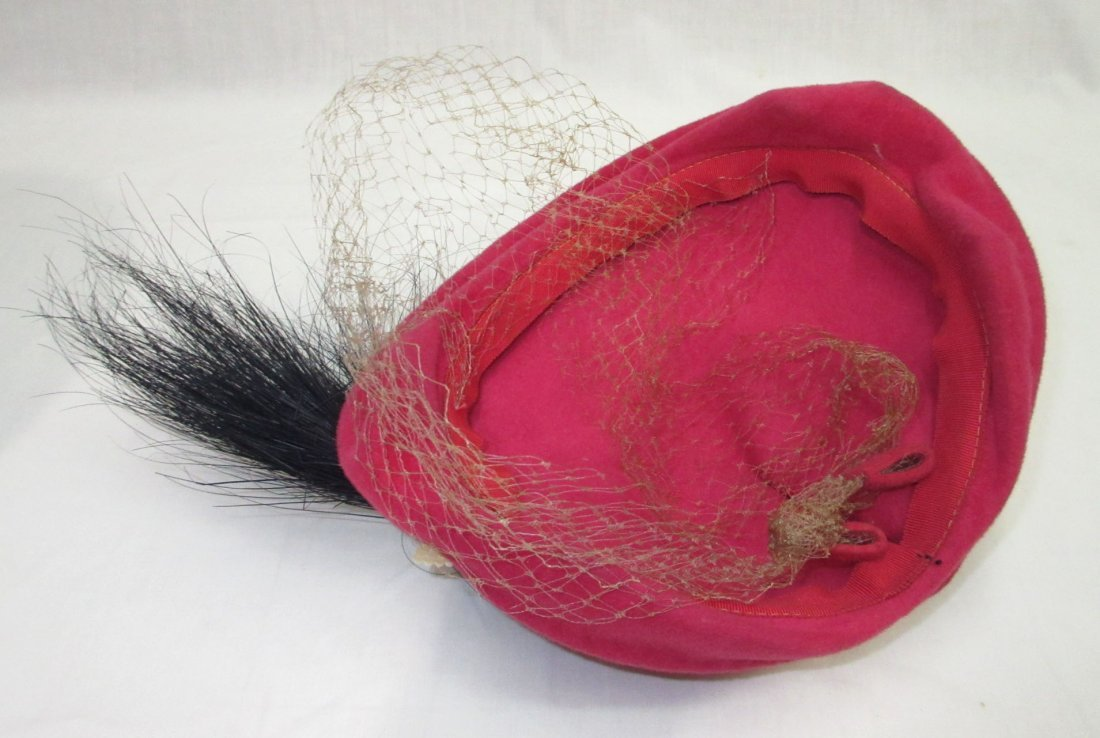Pink Wool & Horse Hair 30's Hat - 6