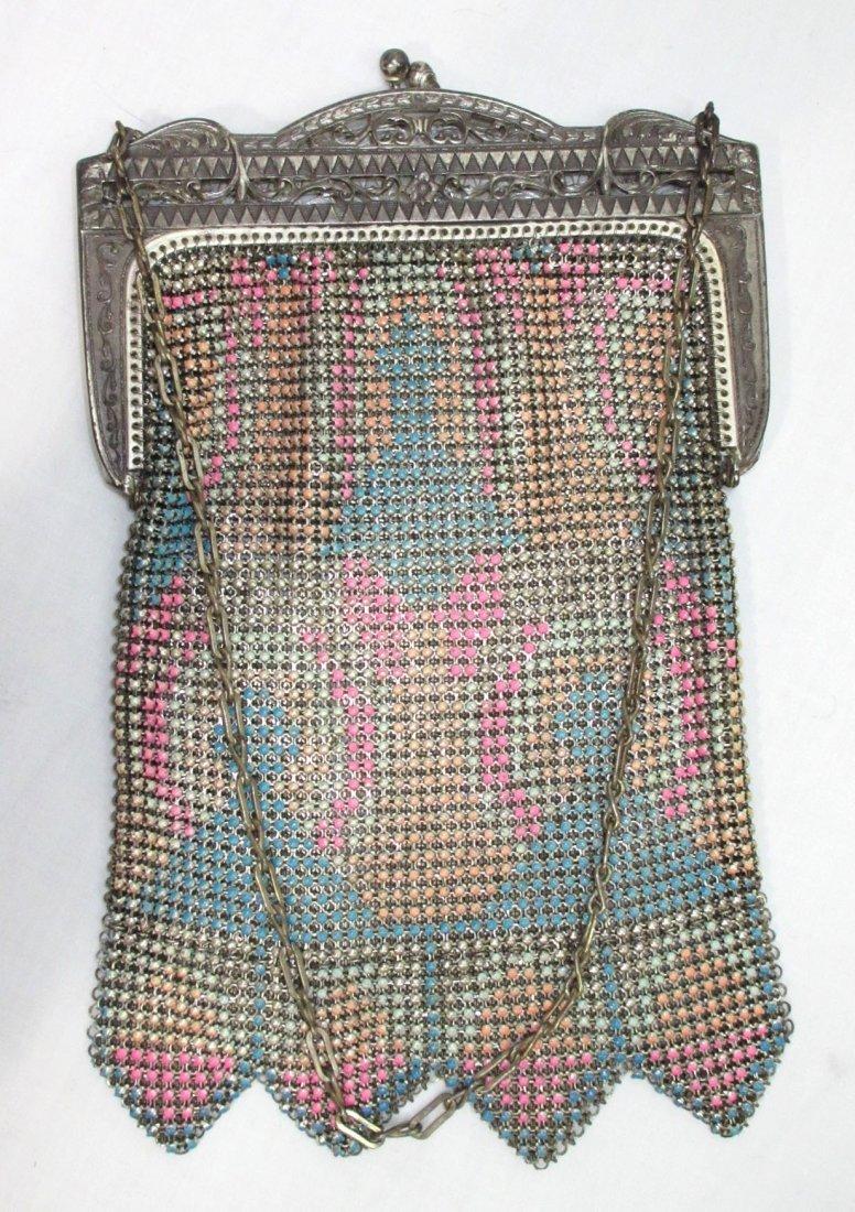 Pastel Enameled Beadlite 1930's Bag - 2
