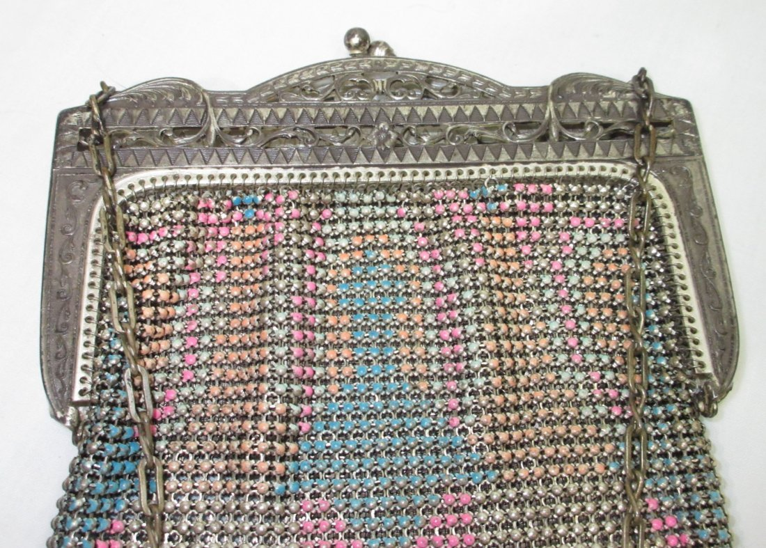 Pastel Enameled Beadlite 1930's Bag - 3