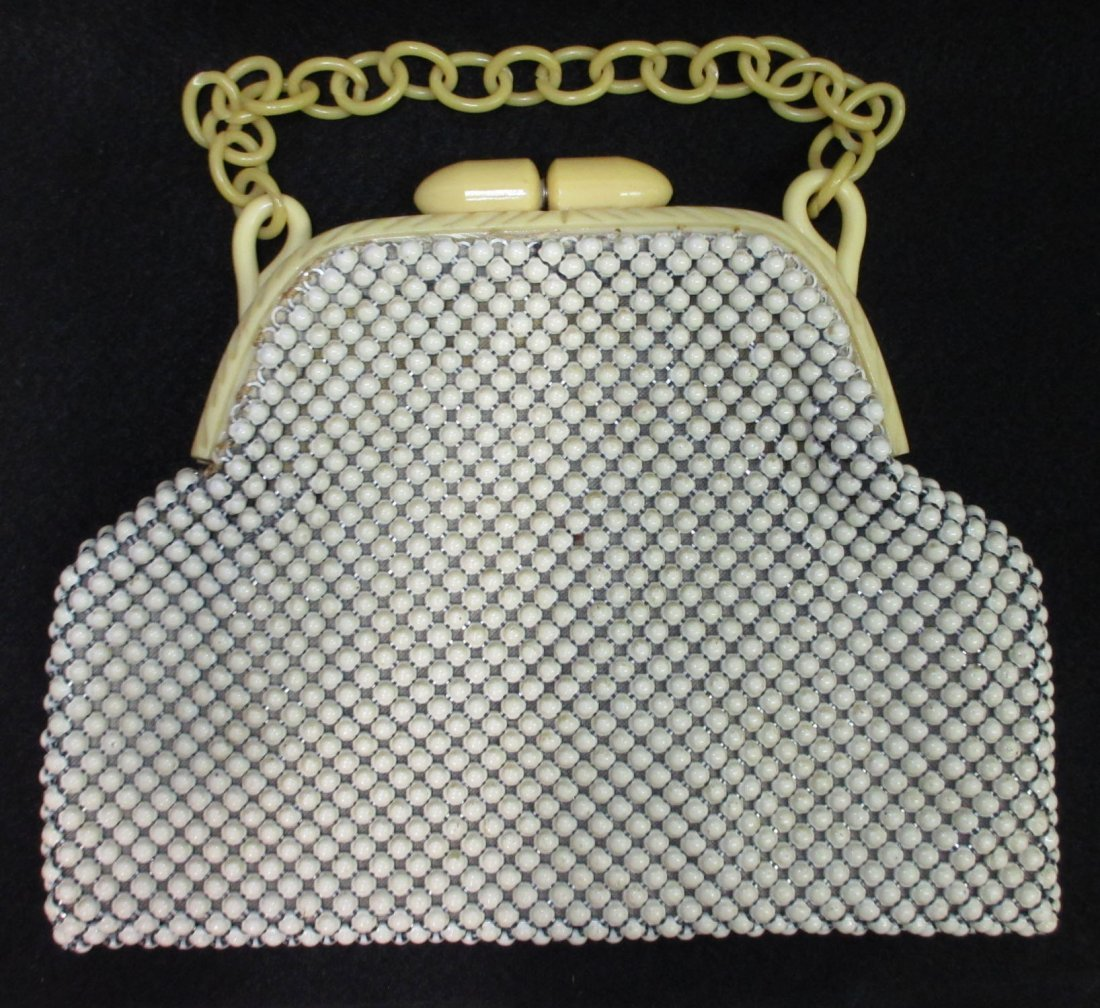 Whiting/Davis Alumesh/Celluloid Fr Book Pc. Purse