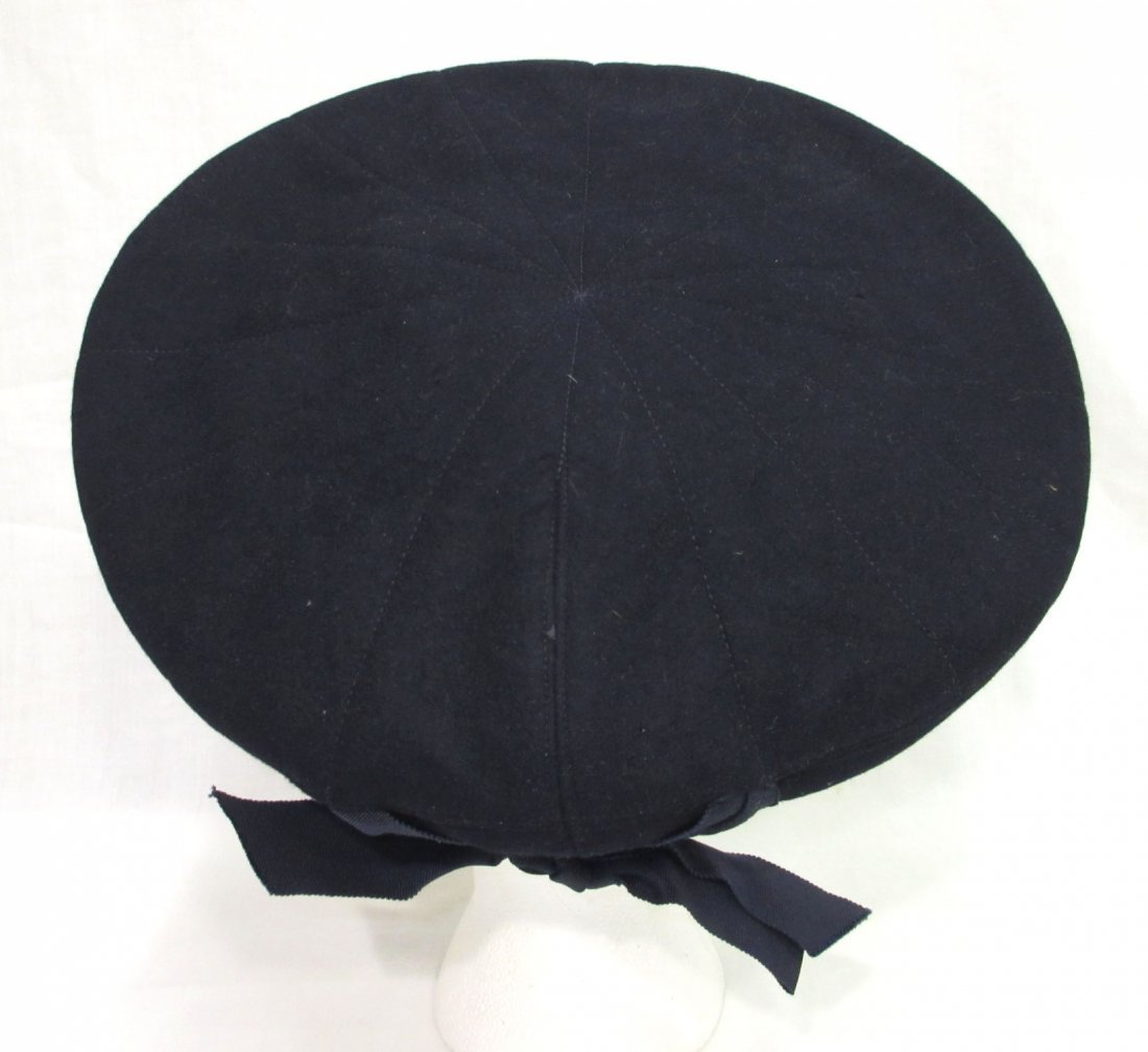 Fashionable Wool Off-The-Face Black Hat