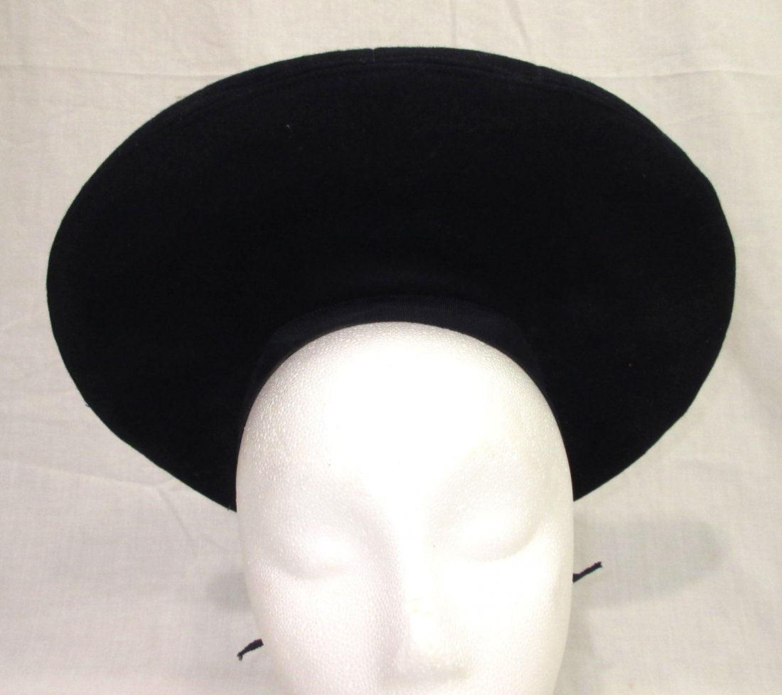 Fashionable Wool Off-The-Face Black Hat - 3
