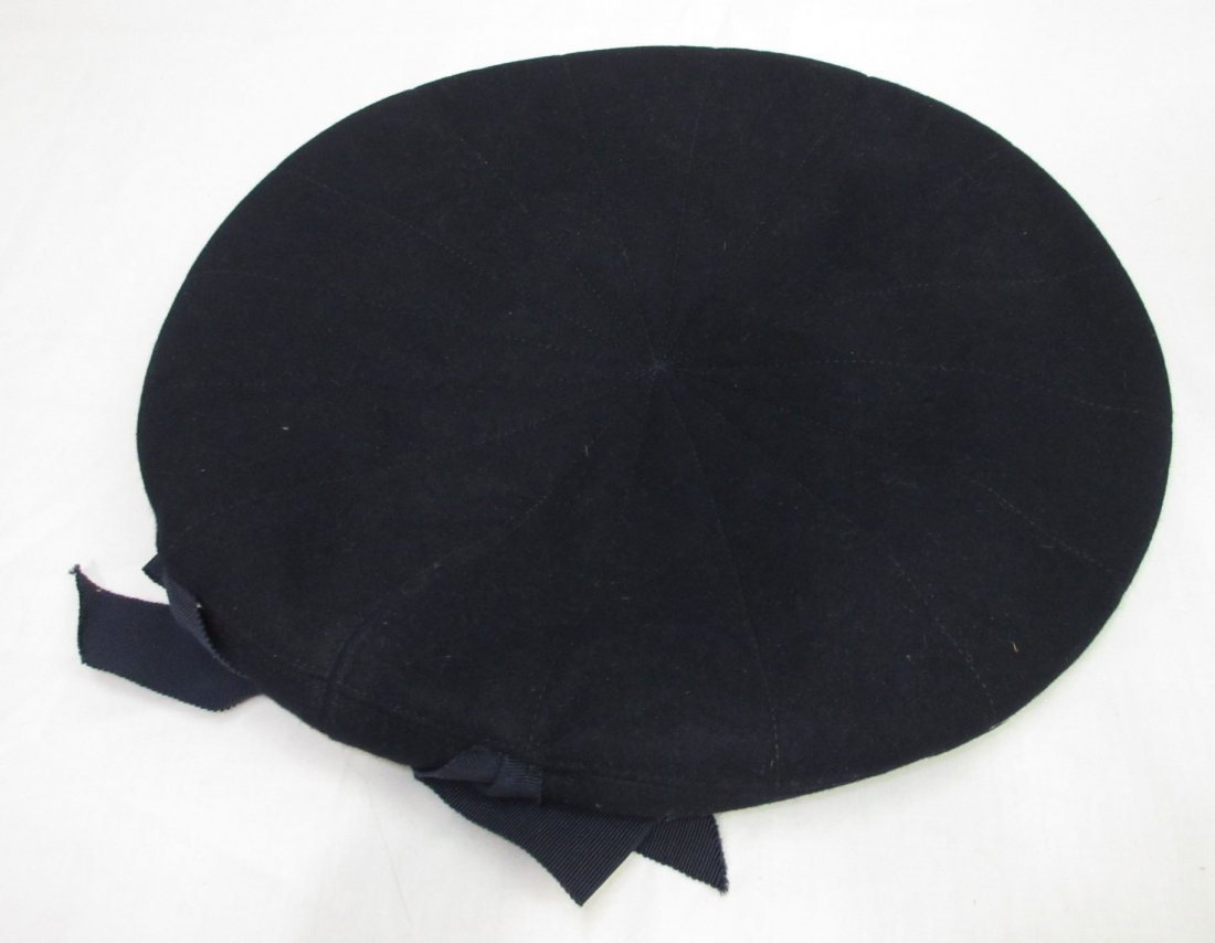 Fashionable Wool Off-The-Face Black Hat - 4