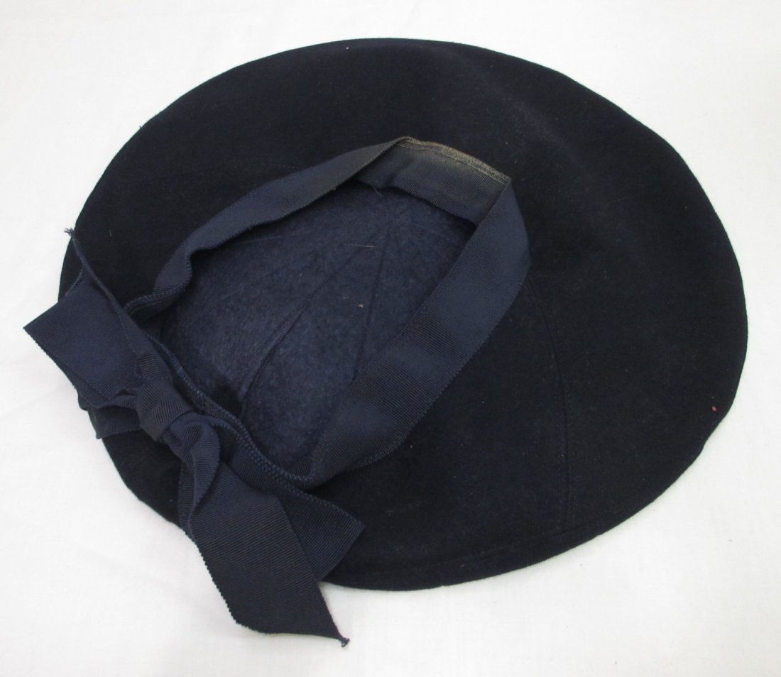 Fashionable Wool Off-The-Face Black Hat - 5