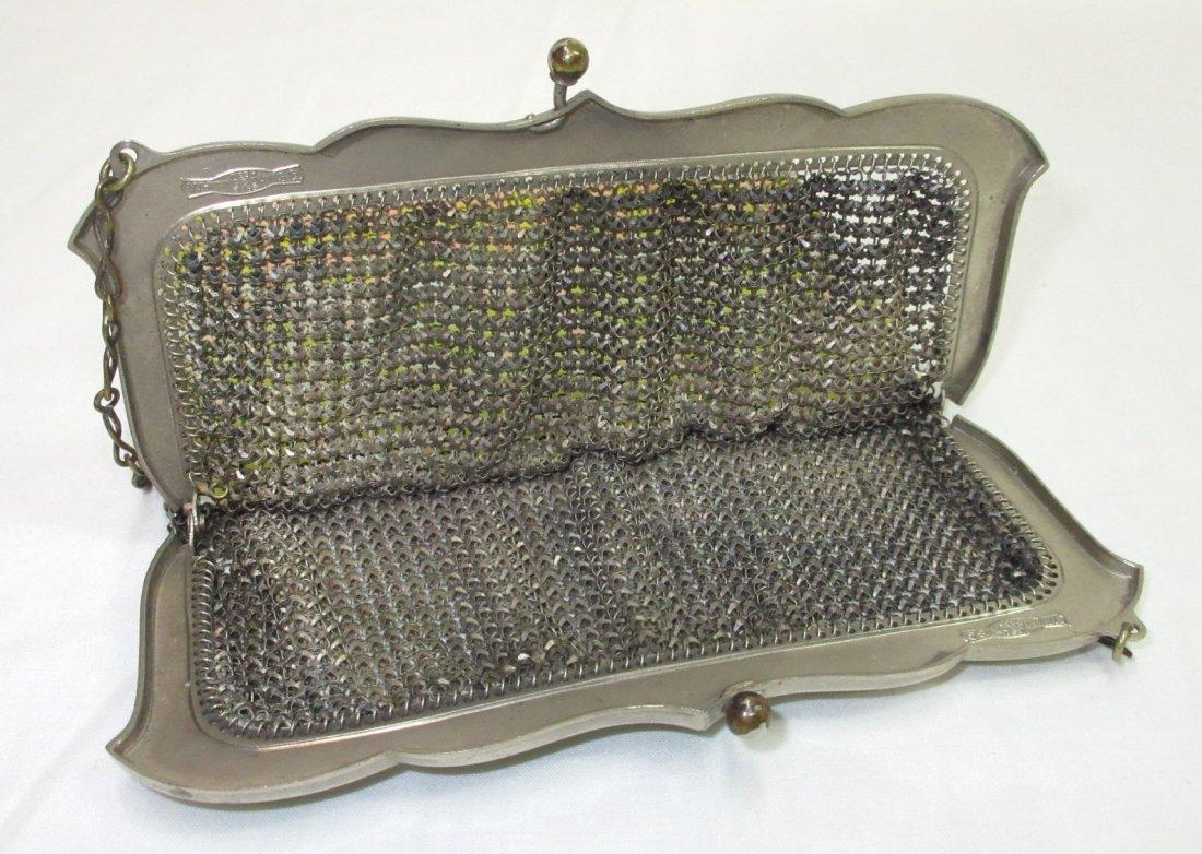 30's Whiting & Davis Enam Deco Armor Mesh Bag - 4