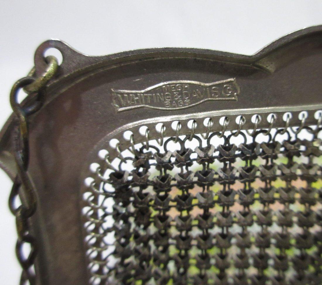 30's Whiting & Davis Enam Deco Armor Mesh Bag - 5