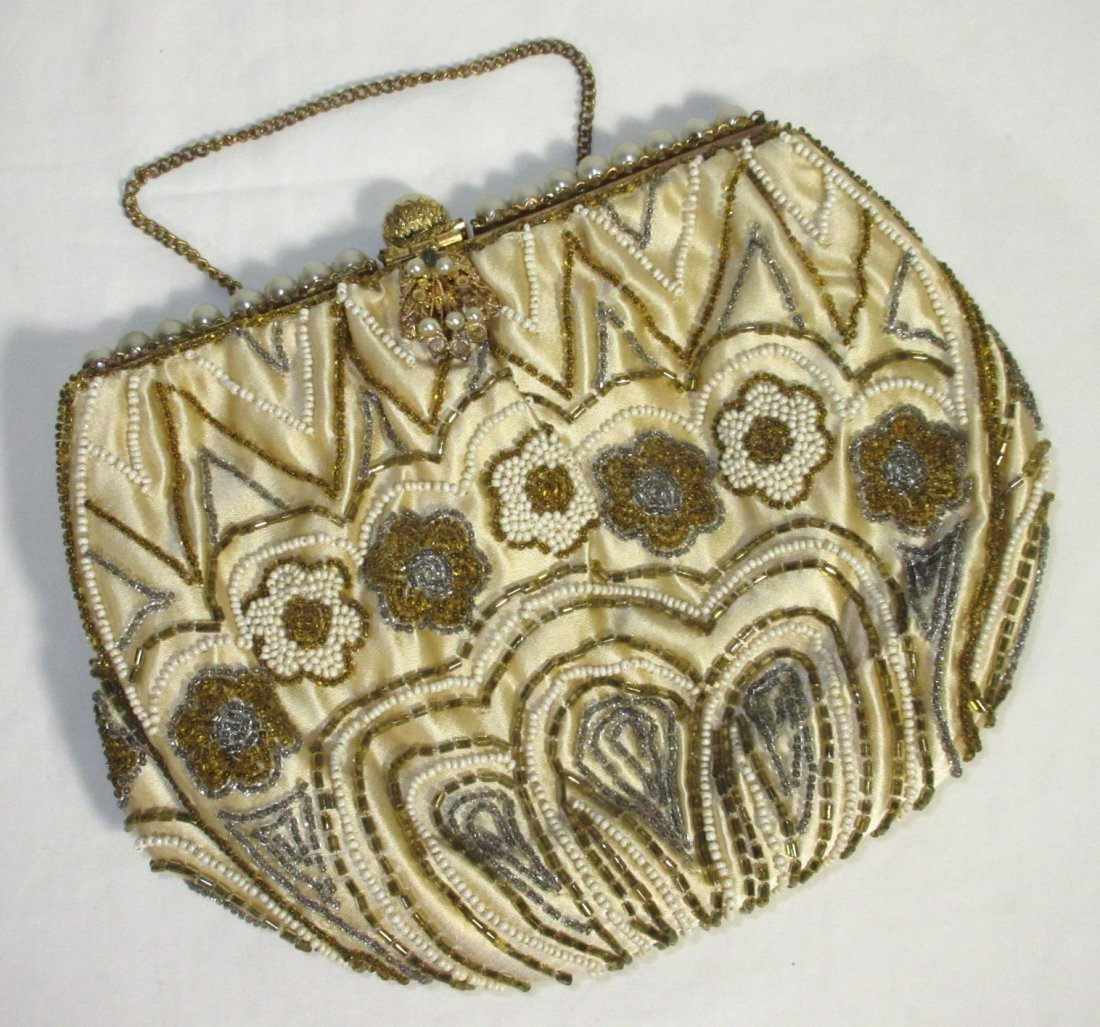 Handmade in France, Cecile Seed Bead Hand Bag